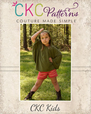 Dakota's Knit Hooded Circle Top and Swim Cover PDF Pattern