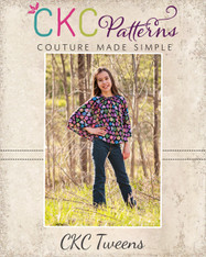 Dakota's Tweens Knit Hooded Circle Top and Swim Cover PDF Pattern
