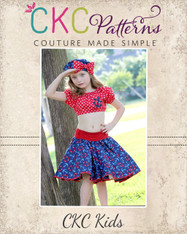 Sassy's Sock Hop Circle Skirt Sizes 2T to 14 Girls PDF Pattern