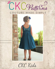 Amy's Knit Bow Dress and Maxi Sizes NB to 14 Girls PDF Pattern