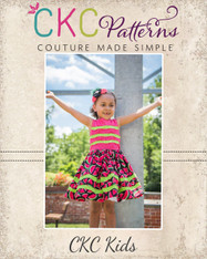 Jency's Wavy Pintuck Dress and Top Sizes 2T to 14 Girls PDF Pattern