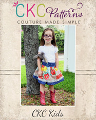 Bentlee's Button-Up Skirt Sizes 2T to 14 Girls PDF Pattern