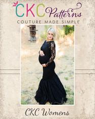 Faryn's Gown, Dress, and Skirt Sizes XXS to 4X Women & Maternity PDF Pattern