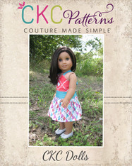 Everlee's Dress & Maxi Doll Sizes PDF Pattern