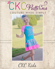 Ady's Paneled Pocket Dress Sizes 2T to 8 Kids PDF Pattern