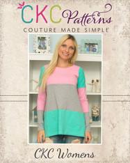 Roe's Classic & Flared Tee, Tunic & Dress Sizes XXS to 4X Women PDF Pattern