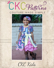 Ellie's Scalloped Party Dress Sizes 2T to 14 Kids PDF Pattern