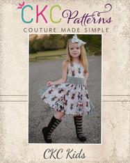 Gretchen's Godet Dress Sizes NB to 14 Kids PDF Pattern