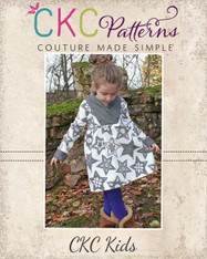 Fern's Fleece Scarf Collar Pullover Sizes 2T to 14 Girls PDF Pattern