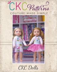 Shiloh's Doll Shortalls and Chiffon Dress PDF Pattern