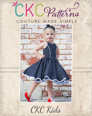 Sandra Dee's Rockabilly Swing Dress Sizes 2T to 14 Kids PDF Pattern
