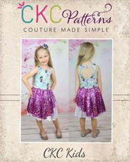 Cassie's Side Swept High Low Dress Sizes 6/12m to 15/16 Girls PDF Pattern