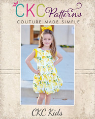 Alexis' Bubble Dress and Top with Pleats Sizes NB to 14 Girls PDF Pattern