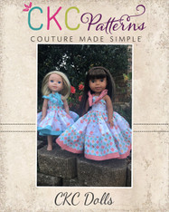 Oleander's Tiered Strappy Dress Dolls Sizes PDF Pattern