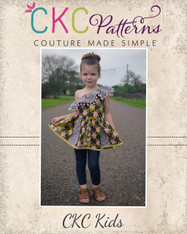 Athena's One Shoulder Dress and Top Sizes 2T to 14 Girls PDF Pattern