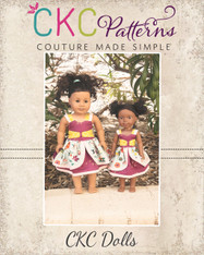 Bunny's Bow Front Dress Doll Sizes PDF Pattern