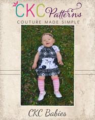 Navy's Baby Knit Pocket Dress PDF Pattern