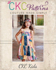 Fawn's Patchwork Dress Sizes NB to 14 Girls PDF Pattern