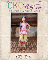 Raleigh's Ruffled Hi-Low Pants and Capris Sizes NB to 14 Girls PDF Pattern