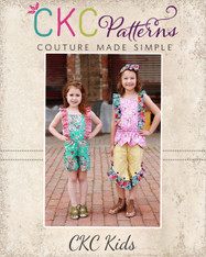 Luana's Little Romper and Top Sizes NB to 14 Girls PDF Pattern