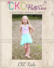 Freya's Retro One-Piece Swimsuit Sizes NB to 14 Kids and Dolls PDF Pattern