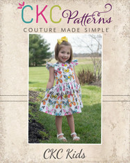 Grayson's Button Front School Girl Dress Sizes 2T to 14 Girls PDF Pattern