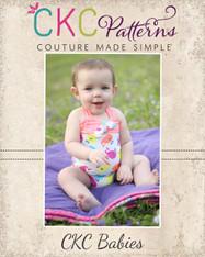 Freya's Baby Retro One-Piece Swimsuit PDF Pattern