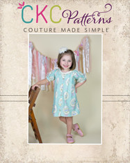 Bernadette's Top and Dress Sizes NB to 8 Girls PDF Pattern