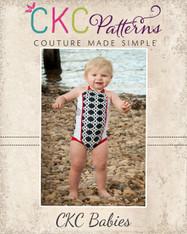 Ella's Baby Retro Ruched Swimsuit PDF Pattern