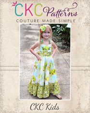 Peony's Sweetheart Maxi Dress Sizes 6/12m to 16 Girls PDF Pattern