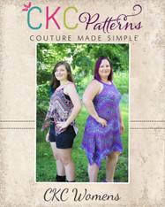 Meryl's Funky Hem Crop, Top & Dress Sizes XXS to 3X Adults PDF Pattern