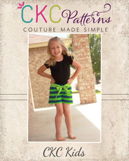 Utopia's Knit Bow Front Shorts and Capris Sizes 2T to 14 Kids PDF Pattern