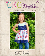 Sutton's Circle Neck Tunic & Dress Sizes 2T to 14 Girls PDF Pattern