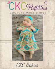 Paxlynn's Babies Pocket Knit Dress PDF Pattern