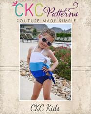 Twyla's Tied Swimsuit Sizes 2T to 14 Girls PDF Pattern