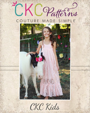 Lynx's Lace Maxi Dress Sizes 2T to 14 Girls PDF Pattern