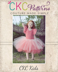 Coral's Fluffy Princess Dress Sizes 2T to 14 Girls PDF Pattern