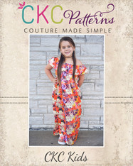 Marina's Ruffle Crop, Top, Dress and Maxi Sizes 2T to 14 Girls PDF Pattern