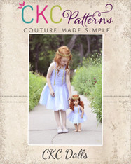 Tayana's Tulle Dress Doll Sizes PDF Pattern
