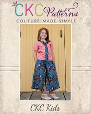 Whitley's Wide Leg Capris & Pants Sizes 2T to 14 Girls PDF Pattern
