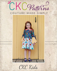 Talise's Two-Piece Scallop Dress Sizes 2T to 14 Kids PDF Pattern