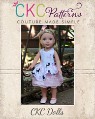 Cassie's Side Swept High Low Dress Doll Sizes PDF Pattern