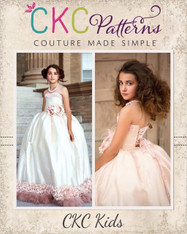 Vale's Corset Gown Sizes 2T to 14 Girls PDF Pattern