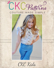 Theodora's Trendy Top Sizes 2T to 14 Girls PDF Pattern