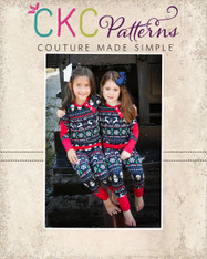 Aries' Two-Piece Knit Pajamas Sizes 2T to 14 Girls PDF Pattern