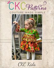 Maraya's Ruffled Top and Dress Sizes 2T to 8 Girls PDF Pattern