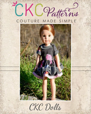 Maylee's Bow Hem Dress Doll Sizes PDF Pattern