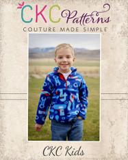 Lucas' Half-Zip Sweatshirt Sizes NB to 14 Boys PDF Pattern