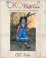 Amorette's Lovely Knot Dress Sizes NB to 14 Kids PDF Pattern