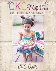 Amorette's Lovely Knot Dress Doll Sizes PDF Pattern